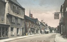 Church St., Newent, Gloucestershire pu 1910. Some of my ancestors were from Newent - if you're researching the surnames Leighton or Layton, do get in touch! esjones <at> btopenworld.com