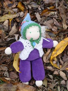 Her hair is white mohair in pony tails, can be dressed. Her clothes are handmade, crocheted. She is filled with pure wool, her skin is ÖKOTEX Pony Tails, Waldorf Dolls, Fairy Dolls, Her Hair, Pure Products, Wool, Trending Outfits, Crochet, Handmade Gifts