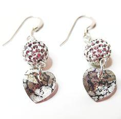 Black Patina Heart Earring Heart Earrings, Drop Earrings, Online Boutiques, Handcrafted Jewelry, Crochet Earrings, Jewelry Design, Charmed, Elegant, Sweet