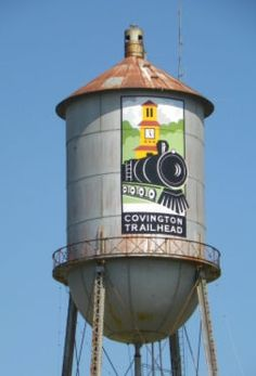 Covington water tower.