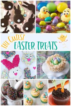 Cute Easter Treats for Kids - These adorable treats are easy to make and kids love them. #Easter #EasterTreats Easter Desserts, Easter Recipes, Dessert Recipes, Cute Easter Treats For Kids, Tasty Dishes, Food Dishes, Easter Crafts, Favorite Recipes, Sweets
