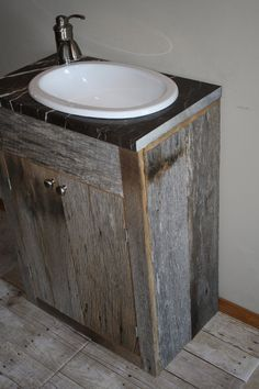 YOUR Custom Rustic Small Barn Wood Vanity or by timelessjourney, $225.00
