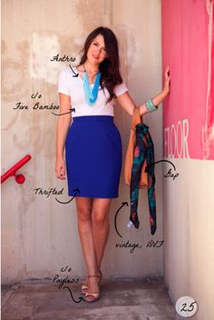 Cobalt blue pencil skirt outfit – Modern skirts blog for you