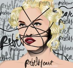 Madonna By Gabriel H Lucero Madonna Art, Madonna Material Girl, Material Girls, Madona, Madonna Pictures, Rebel Heart, Still Love Her, Celebs, The Outsiders