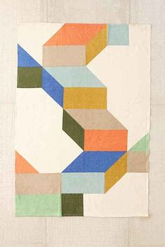 $99 5' x 7' - Assembly Home Complex Colorblock Printed Rug - Urban Outfitters
