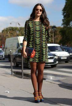 Parisian chic in a shift dress