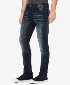 Buffalo David Bitton Men's Faded Dark Indigo Jeans - Blue 33x30
