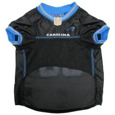 Super cute carolina panthers dog jersey so your dog can root for your home team at your next super bowl party!
