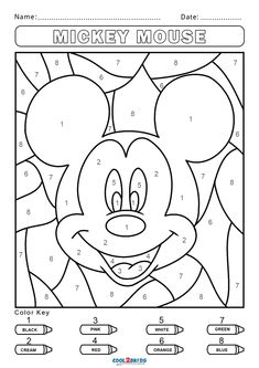 Art and craft have always been one of the most efficient tools for early education and cognitive development. Printable coloring pages and other similar Coloring Sheets For Kids, Disney Coloring Pages, Printable Coloring Pages, Coloring Pages For Kids, Adult Color By Number, Color By Number Printable, Color By Numbers, Kindergarten Colors, Preschool Colors