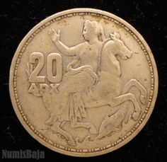 Moneda 20 dracmas Grecia 1960