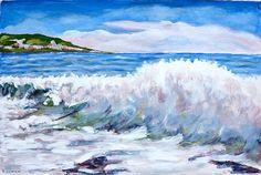 Portofino Painting Landscape Original Acrylic by SumanDimension