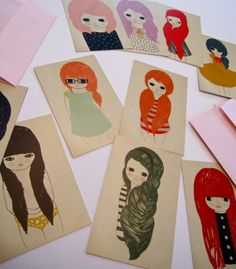 Getting in these cool Girl Cards fr AshleyG! Can't wait!  #domestica #cards