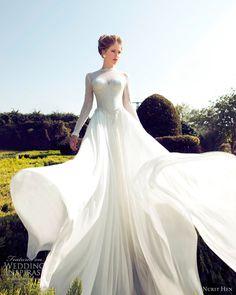 nurit hen bridal 2013 wedding dress long sleeves