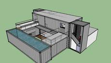 Wohnen, Versandbehälter Häuser, Transportbehälter, Container Architektur,  Kleines Haus, Haus Pläne, Möbel Projekte, Schutzhütten, Grundrisse