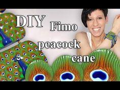 FIMO Pfau (Cane): Polymer Clay Peacock - Tutorial [HD/DE] (EN-Sub) - YouTube