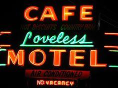 Loveless Cafe Neon Sign by SeeMidTN.com (aka Brent), via Flickr