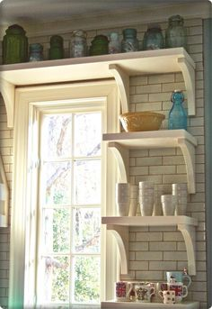 Chunky Kitchen Shelves In My Window Area