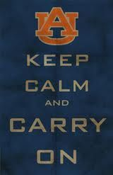 ...as long as it's not a Saturday in the Fall... then instead of keeping clam, you will have a million heart attacks, but always know your tigers can pull through in the end. War Eagle!