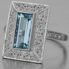 Art Deco Aquamarine...