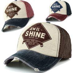 Ball Cap Denim Distressed Vintage Look Baseball Hat Trucker Adjustable 9Colors