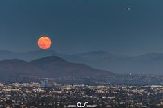 Super Moon that was captured from Mt.Soledad in La Jolla.   Photo by Andrew Serrano.