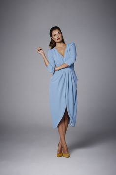 Coosy - VESTIDO VICTORIA Wrap Dress, Jackets For Women, Victoria, Inspiration, Outfits, Weddings, Humor, Clothes, Dresses