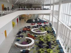 "James B. Library Interior (Article from the ""Business Insider"" of the best college libraries. University Architecture, Library Architecture, School Architecture, Interior Architecture, Interior Design, Interior Modern, Modern Exterior, Interior Ideas, Kids Library"