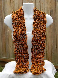 Team Spirit Scarf Black and Orange scarfSpirit by JANSONESTOPSHOP, $20.00