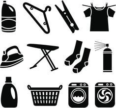 cool laundry silhouettes for wall art