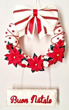 Peony Nanni: CHRISTMAS: Ghirlanda di Natale in pannolenci
