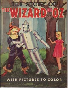 Wizard of oz 1939 Story of The Wizard of oz Coloring Book Unused | eBay