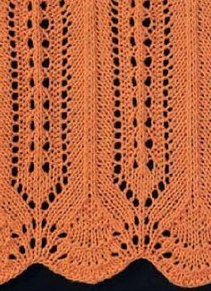Brzegi na drutach on Pinterest Knit Lace, Knitting Books ...