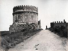 Tomb of Cecilia Metelli, Via Appia, Rome, Italy, ca 1865