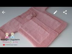 # cardigan Bow Baby Cardigan Rice Knitting Pattern - Y . Baby Cardigan, Baby Vest, Baby Knitting Patterns, Knitting Designs, Knitting For Beginners, Baby Bows, Baby Sweaters, Knitting Needles, Crochet