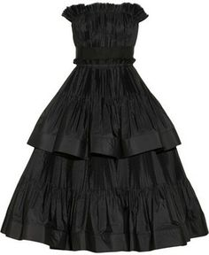Lanvin Tiered pleated taffeta dress on shopstyle.com