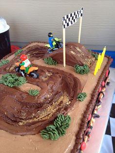 result for motocross cakes for birthdays Bike Birthday Parties, Dirt Bike Birthday, Birthday Cakes, Birthday Ideas, Bolo Motocross, Race Track Cake, Dirt Bike Cakes, Jeep Cake, Dessert Decoration