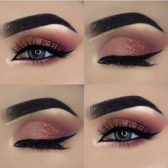 50 Gorgeous Blue Eye Makeup Looks For Day And Evening 2019 – Page 12 of 50 – Chic Hostess – Augen Make Up Gold Eyeliner, Gold Eye Makeup, Smokey Eye Makeup, Eyeshadow Makeup, Makeup Glowy, Natural Makeup, Drugstore Makeup, Sephora Makeup, Makeup Brushes