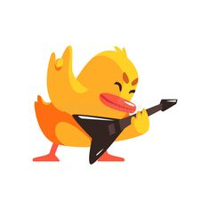 Photo about Duckling Playing Electro Guitar Cute Character Sticker. Little Duck In Funny Situation Childish Cartoon Graphic Illustration On White Background. Illustration of humanized, bright, funny - 78740459 Duck Illustration, Character Illustration, Graphic Illustration, Duck Cartoon, What The Duck, Little Duck, Cute Characters, Illustrator, Pikachu