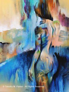 Édition limitée de 295 cette oeuvre de figuratif abstrait cascade - tirage dArt sur papier texturé ou toile - combine lénergie aléatoire dune peinture