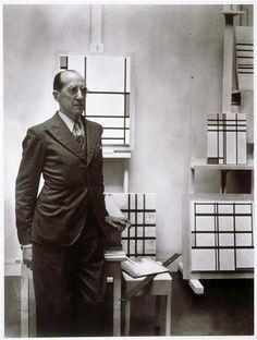 • PIET MONDRIAN (1872-1944) • 1937, by ROGI ANDRÉ (1905 -1970) •