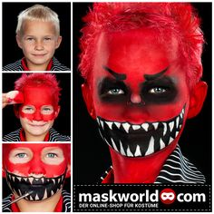 Halloween The post Face painting Monster appeared first on Best Pins for Yours - Makeup Ideas Halloween Makeup For Kids, Halloween Tags, Halloween Horror, Happy Halloween, Halloween Party, Halloween Costumes, Scary Costumes, Costume Dracula, Monster Makeup