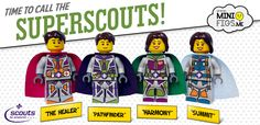 custom printed LEGO superscout scout minifig minifigure