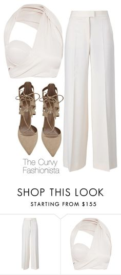 """""""Untitled #452"""" by thecurvyfashionista ❤ liked on Polyvore featuring STELLA McCARTNEY, Aquazzura, women's clothing, women, female, woman, misses and juniors"""