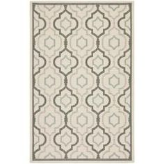 Poolside Beige/ Dark Beige Indoor Outdoor Rug (5'3 x 7'7)