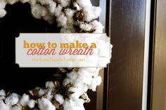 making a cotton wreath