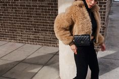 Acne Studios jacket, Chanel wallet from StockX, The Frilly trousers, Zara turtleneck