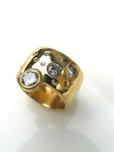 constellation ring-your very own galaxy..diamonds and 18ct gold