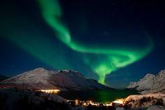 Licht aus, Spot an:  Die Bewohner des Dorfes Ersfjordbotn nahe Tromsø in...
