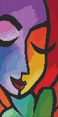 Cross Stitch Kit 'Chance' By Thomas Fedro  Modern by GeckoRouge, $67.00