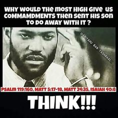 Think! We have hidden powers with their own agenda and we not follow.Keep The Most High's commandments